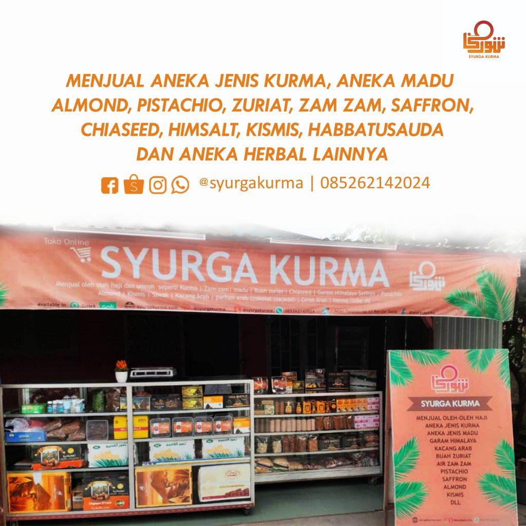 Syurga Kurma Medan, Grosir dan eceran kurma di Medan, menjual aneka makanan sunnah, herbal dan oleh oleh haji dan umroh di Medan